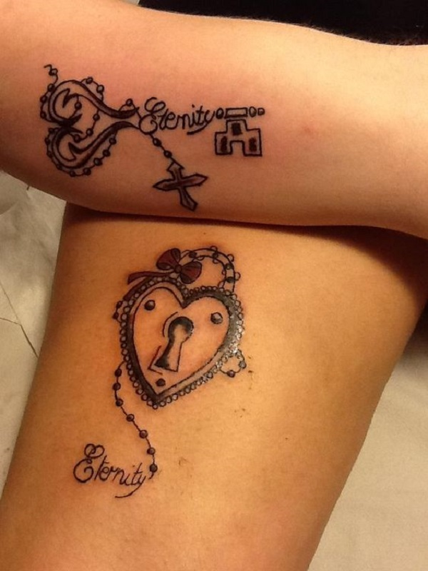 Lock And Keys Tattoo 2