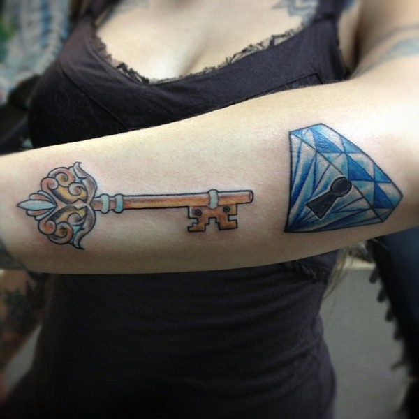 Lock And Keys Tattoo 31