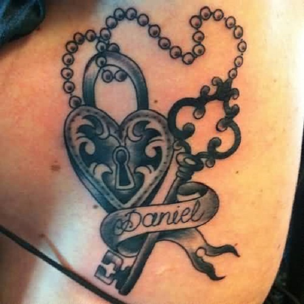 Lock And Keys Tattoo 32