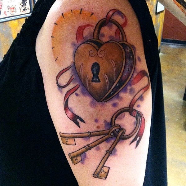 Lock And Keys Tattoo 33