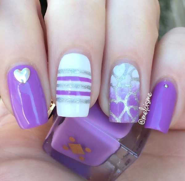 Purple Nail Art-1