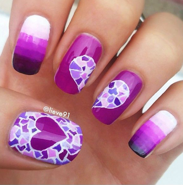 Purple Nail Art-12