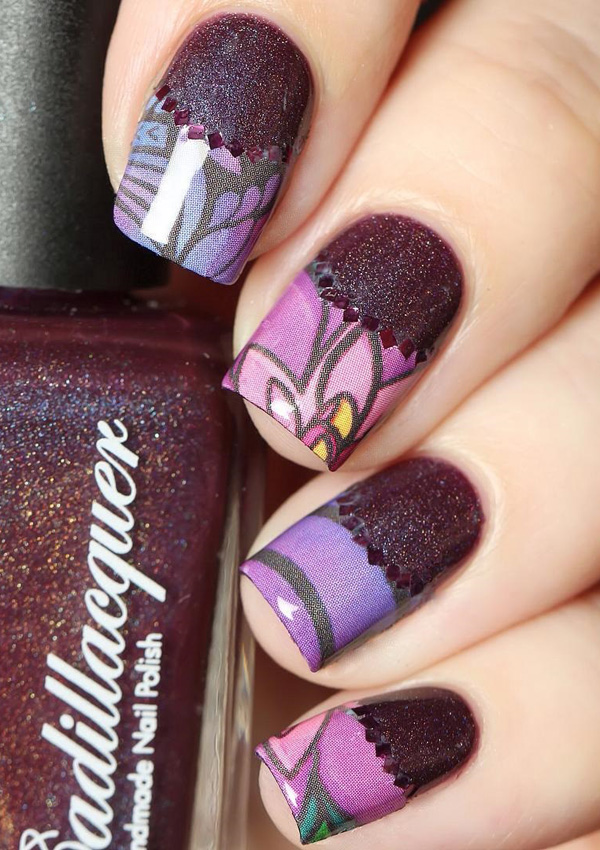 Purple Nail Art-15