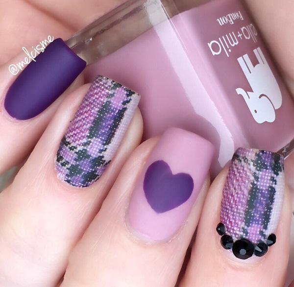 Purple Nail Art-2
