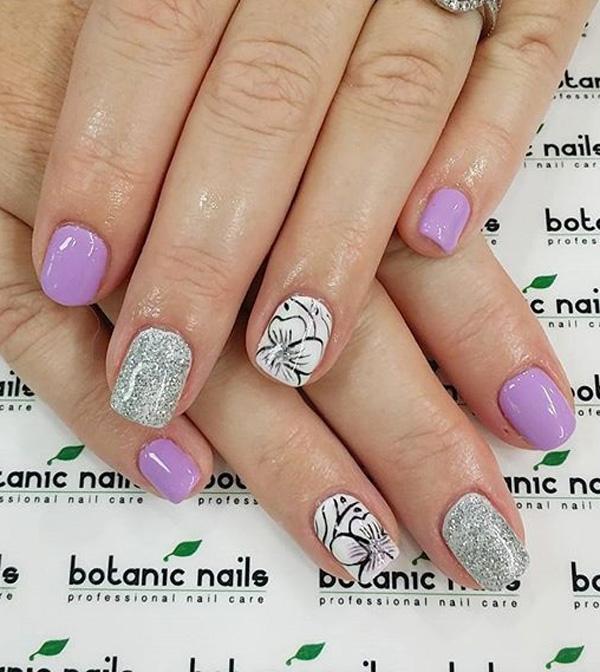 45+ Purple Nail Art Ideas , nenuno creative