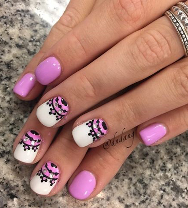 Purple Nail Art-22