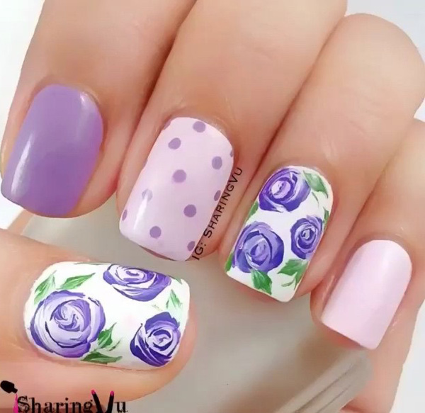 Purple Nail Art-26