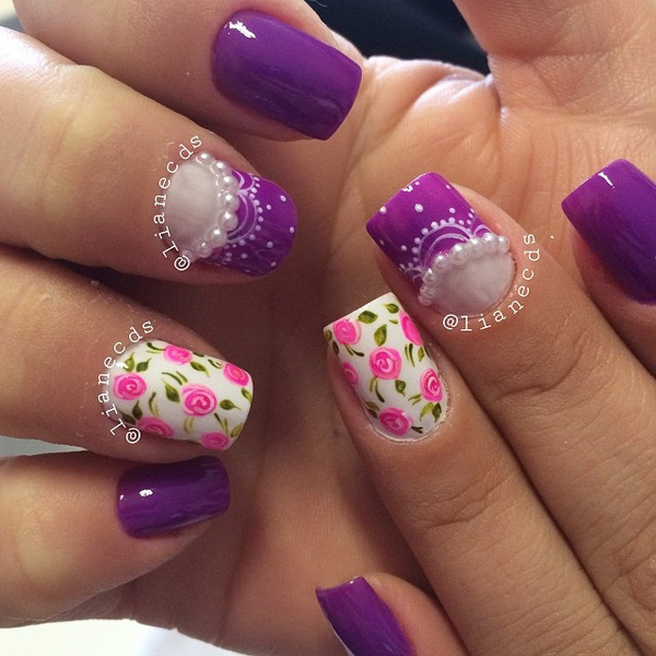 Purple Nail Art-28