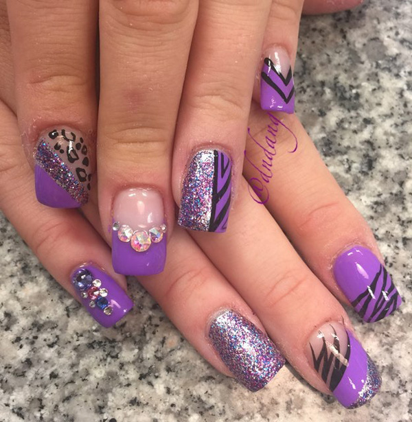 Purple Nail Art-29