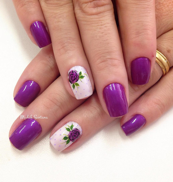 Purple Nail Art-30