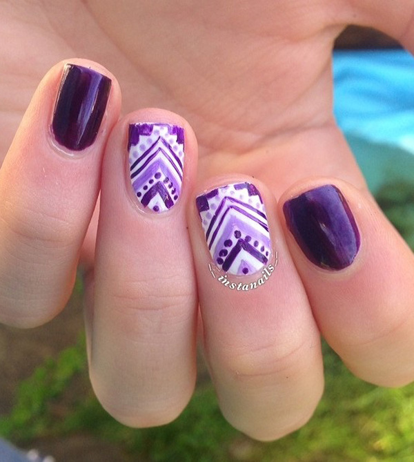 Purple Nail Art-31