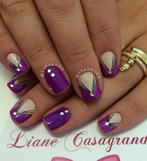 Purple Nail Art-32