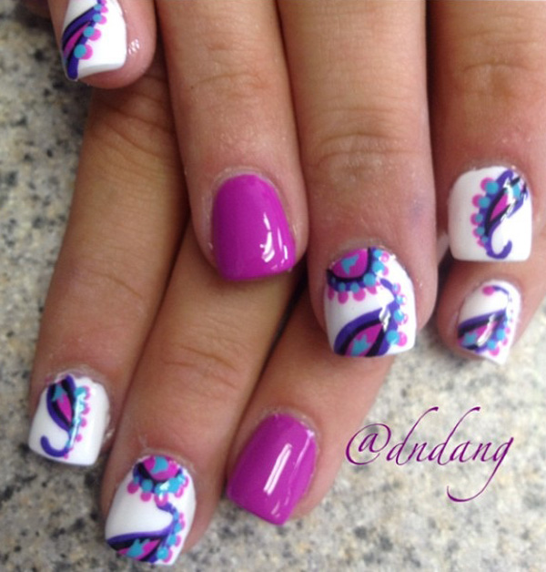 Purple Nail Art-34
