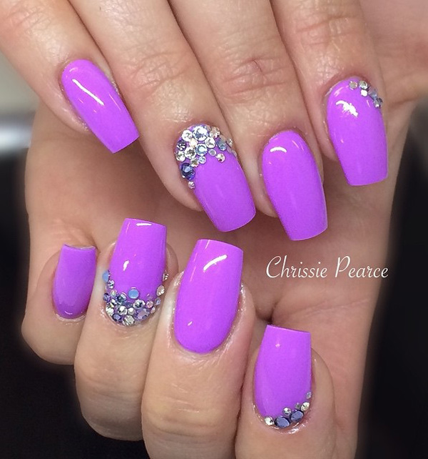 Purple Nail Art-36