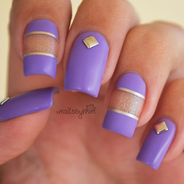 Purple Nail Art-38