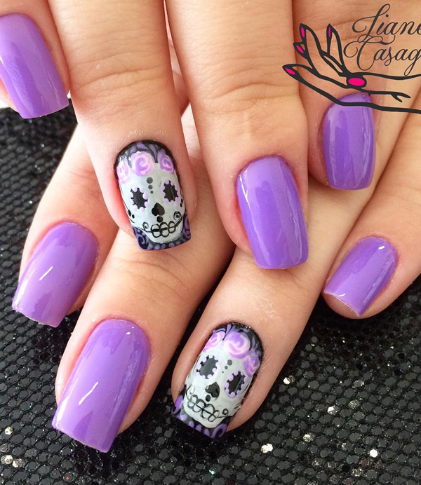 Purple Nail Art-40