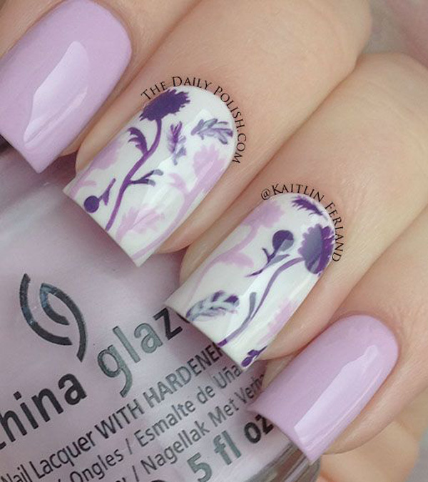 Purple Nail Art-41