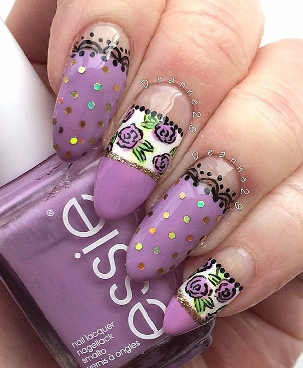 Purple Nail Art-7
