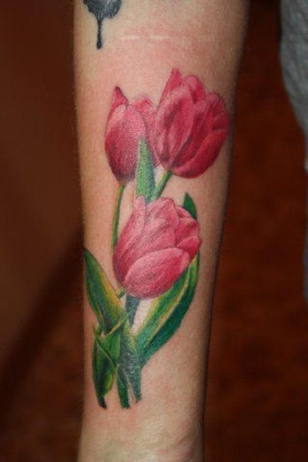 50 Tulip Tattoo Design Ideas - Nenuno Creative