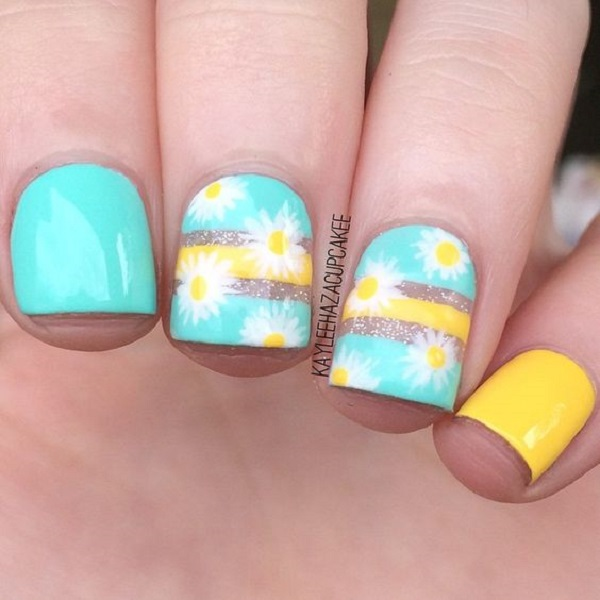 Yellow Nail Art 1