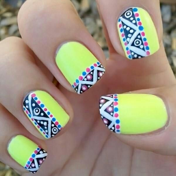 Yellow Nail Art 11