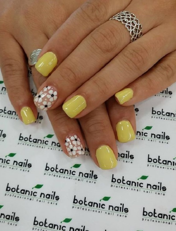 Yellow Nail Art 13