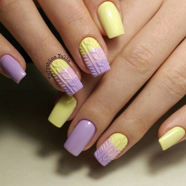 Yellow Nail Art 15