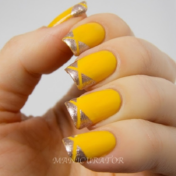 Yellow Nail Art 18