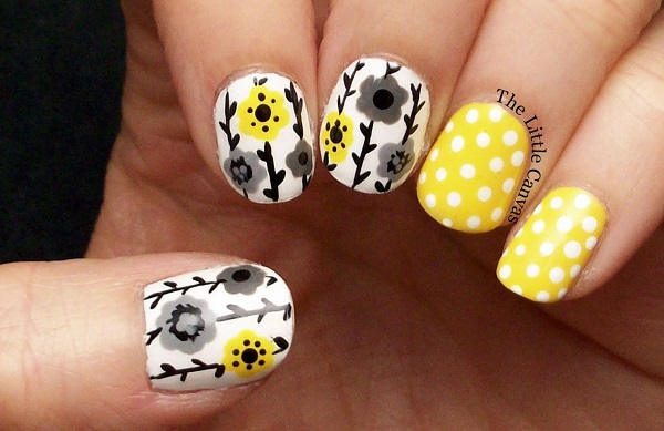 Yellow Nail Art 2