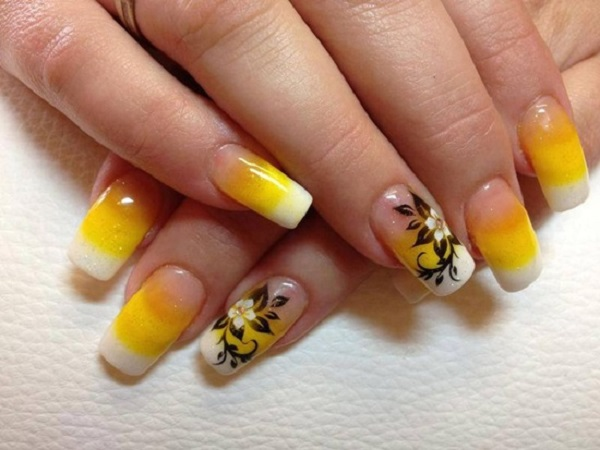 Yellow Nail Art 24