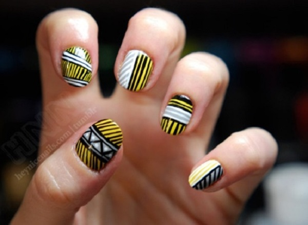 Yellow Nail Art 29