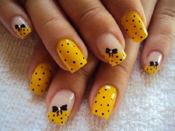 Yellow Nail Art 34