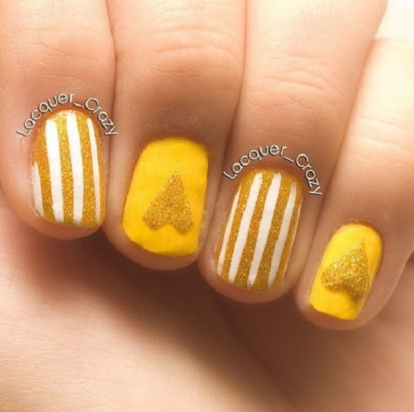 Yellow Nail Art 35