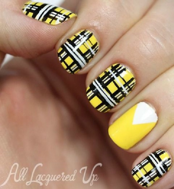 Yellow Nail Art 37