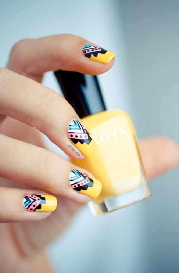 Yellow Nail Art 4