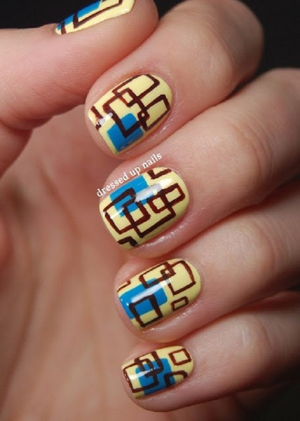 Yellow Nail Art 6
