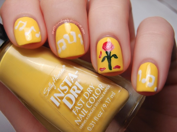 Yellow Nail Art 8