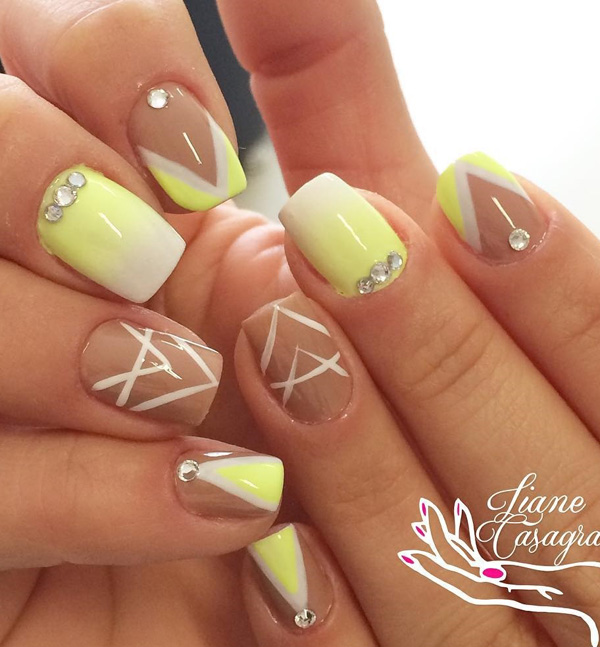 yellow nail art-12