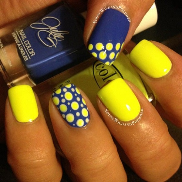 yellow nail art-14