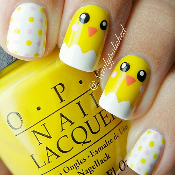 yellow nail art-19