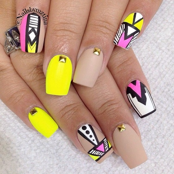 yellow nail art-20