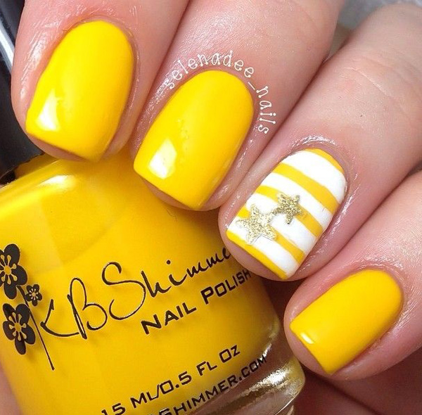 yellow nail art-31
