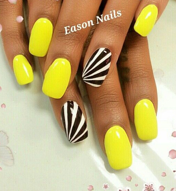 yellow nail art-32