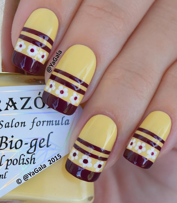 yellow nail art-36