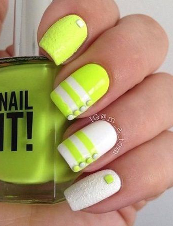 yellow nail art-5