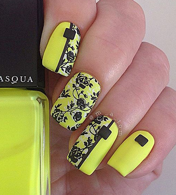yellow nail art-9