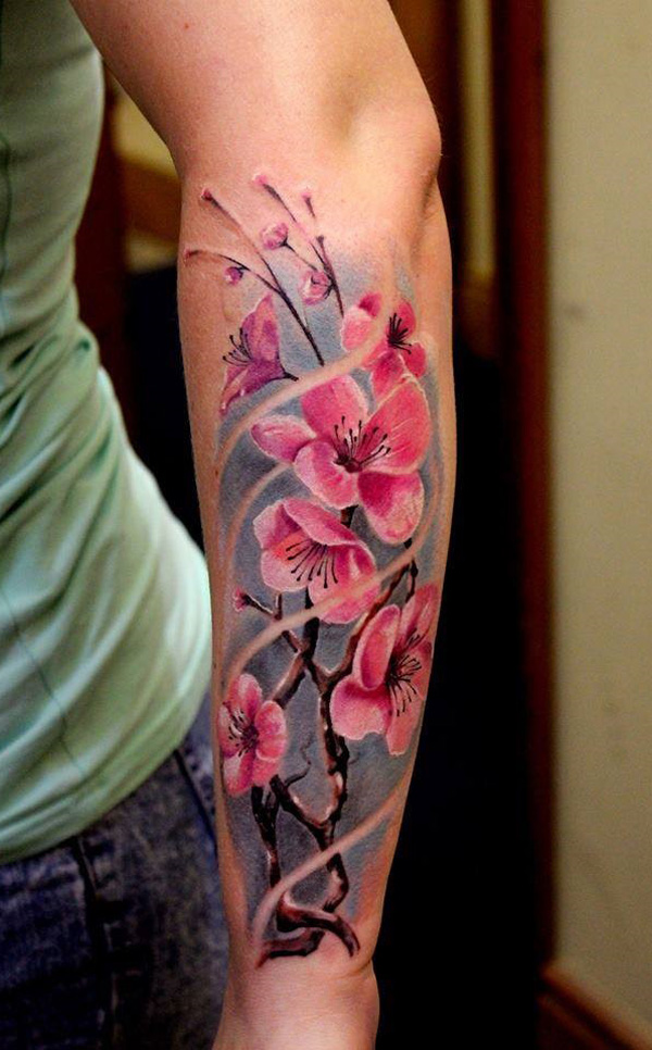 40+ Beautiful Cherry Blossom Tattoos - nenuno creative