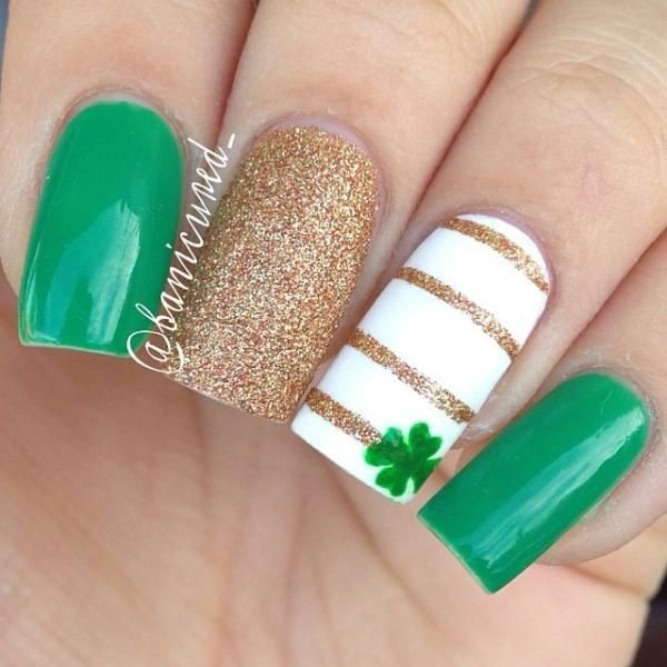 Four Leaf Clover Nail Art 10