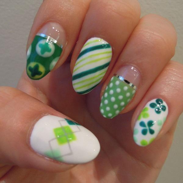 Four Leaf Clover Nail Art 12
