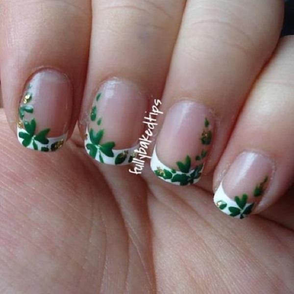 Four Leaf Clover Nail Art 14
